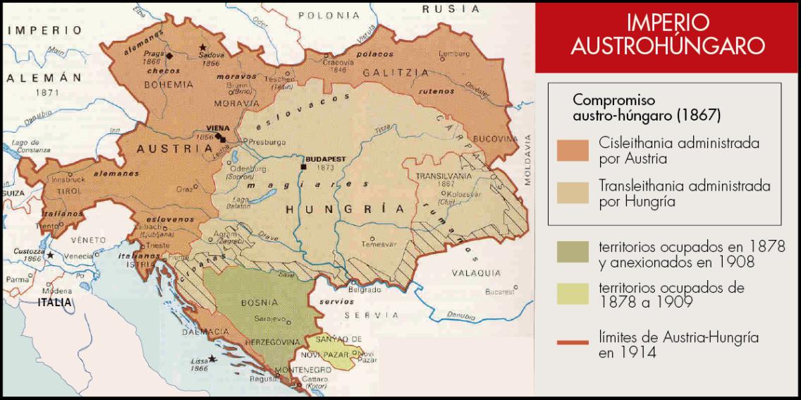 Resultado de imagen de Imperio Austrohungaro ausgleich