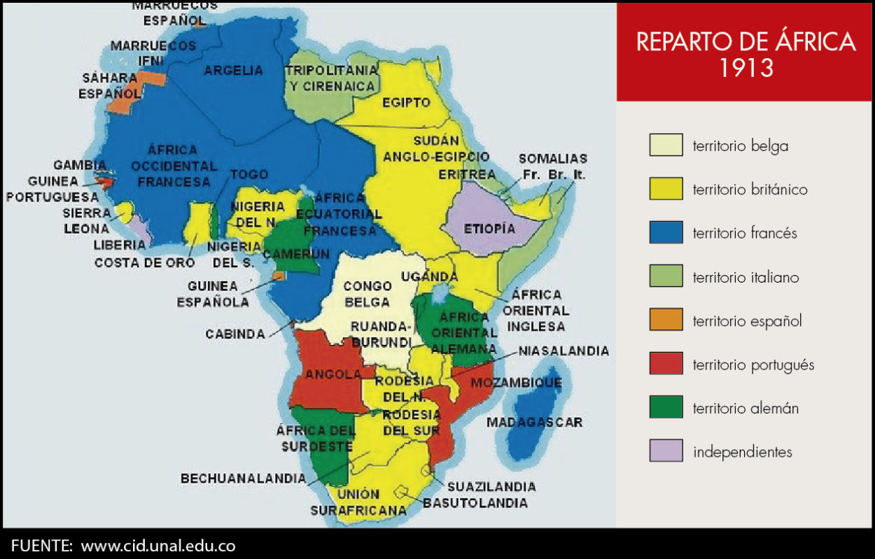 Mapa Colonial De Africa.Map Mapa Del Reparto De Africa